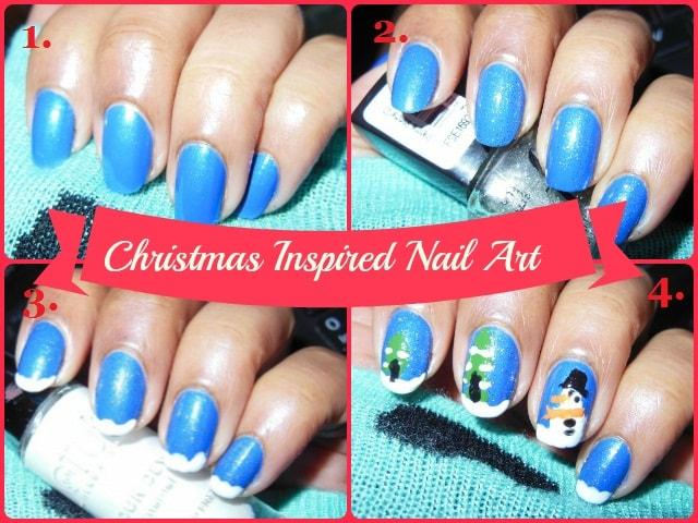 Christmas Inspired Nail Art 1