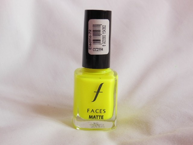 Faces Neon Matte Electric 72 Nail Enamel Review