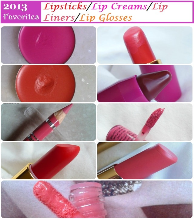 Favorites of 2013 - Lipsticks, Lip Creams, Lip Liners and Lip Glosses (1)