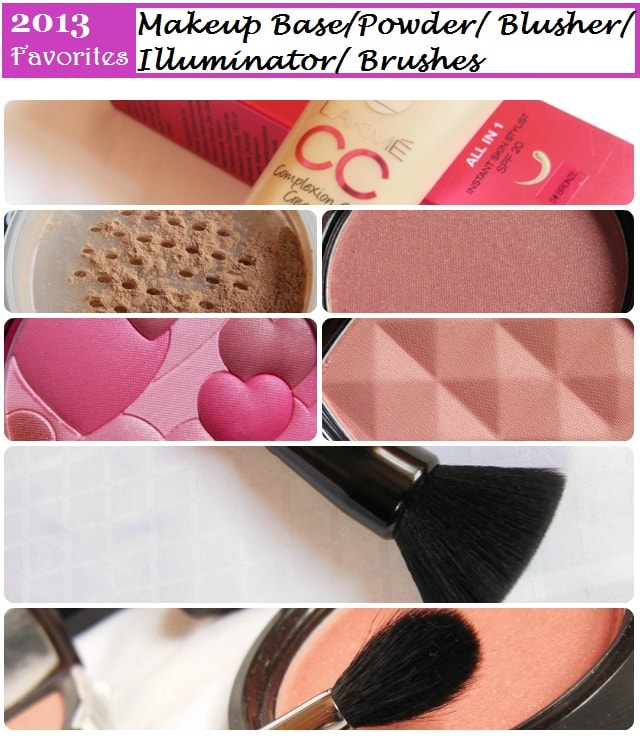 Favorites of 2013 -  Makeup Base, Face Powder, Blusher, Illuminator, Makeup Brushes
