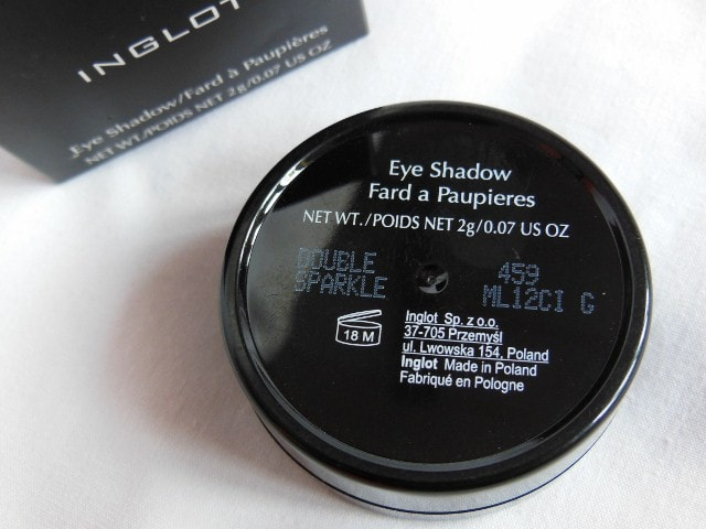INGLOT Eye Shadow Double Sparkle #459 Review