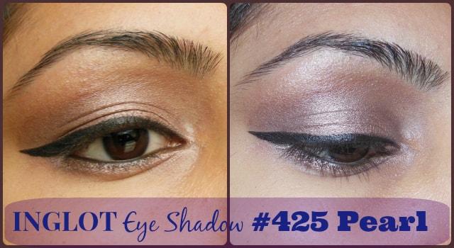 Inglot Eye Shadow Pearl #425 EOTD