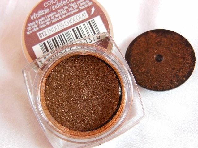 L'Oreal Paris Infallible Eye Shadow Endless Chocolate Review