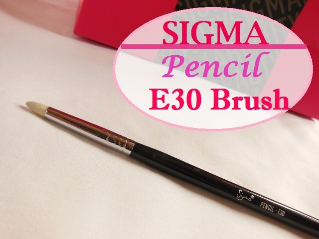 SIGMA Makeup E30 Pencil Brush Review - Copy