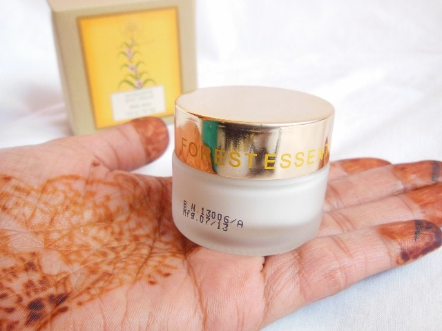 Forest Essentials Intensive Eye Cream with Anise Review