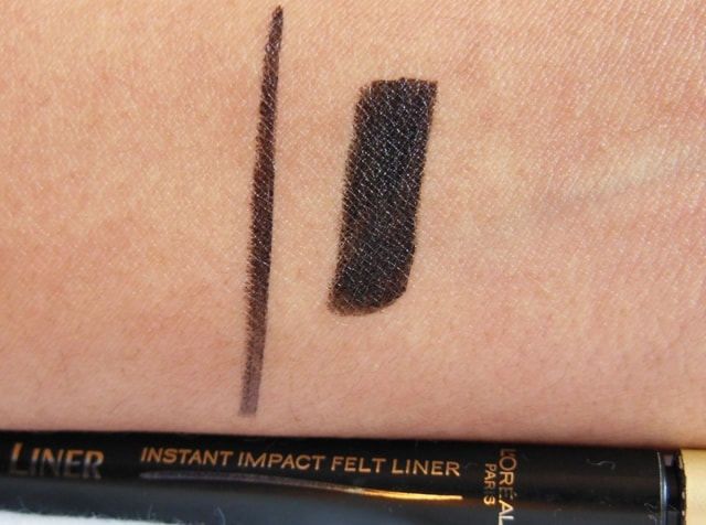 L'Oreal Super Liner Felt Tip Eye Liner Black Swatch