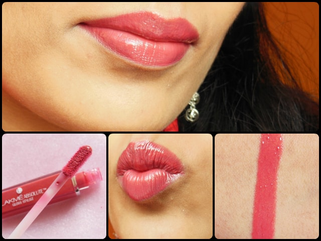 Lakme Absolute Burgandy Burn Lip Gloss Lip Swatch