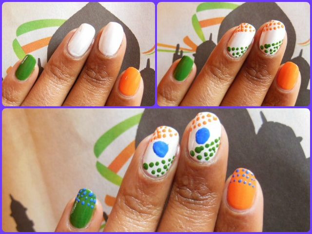 Republic day 2014 Inspired Nail Art
