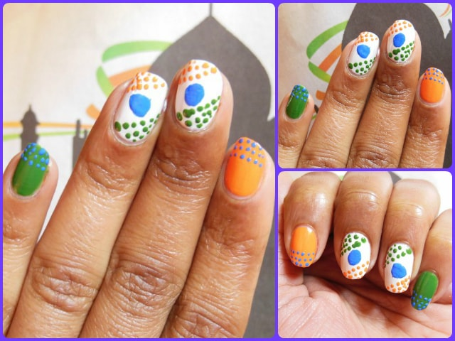 Republic day Inspired Nail Art