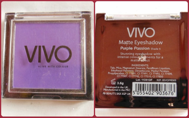 VIVO Matte Eye Shadow Purple Passion Review