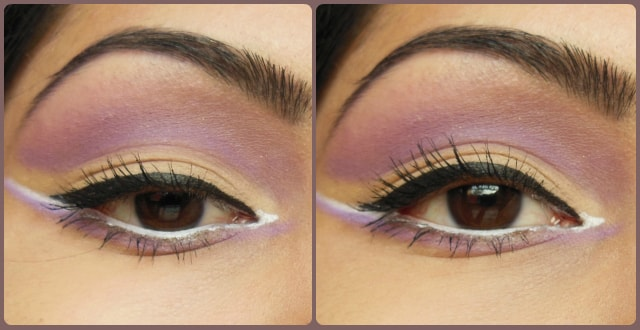 VIVO Matte Eye Shadow Purple Passion and SandStorm EOTD