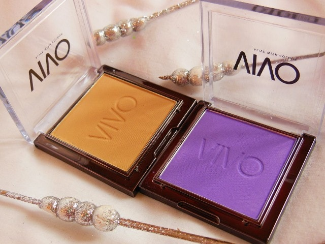 VIVO Matte Eye shadows Purple Passion and Sandstorm Review