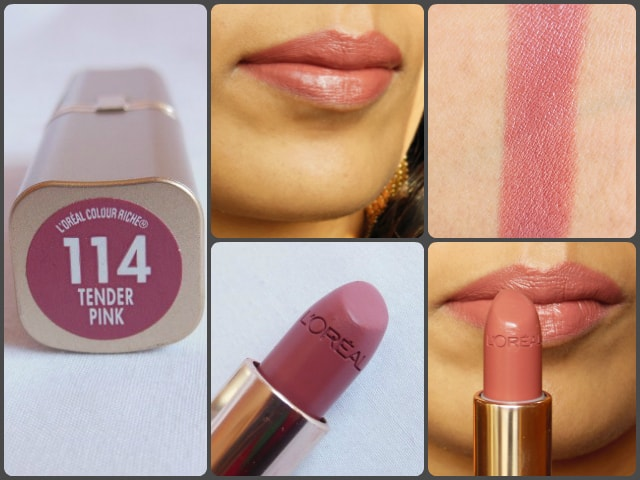 L'Oreal Paris Color Riche Tender Pink Lipstick LOTD