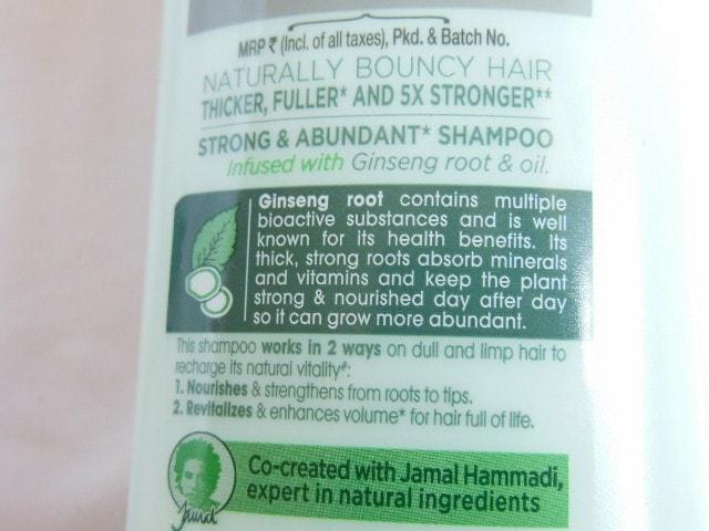 Sunsilk Natural Recharge Shampoo Claims