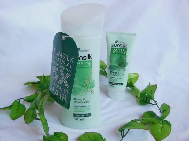 Sunsilk Paraben Free Natural Recharge Shampoo and Conditioner