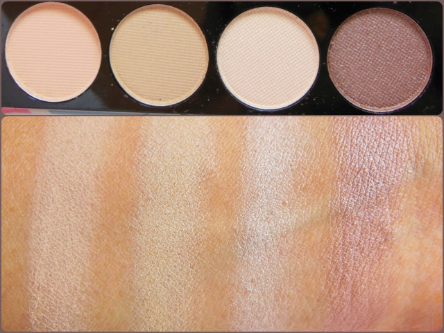 Accessorize Eye Shadow Palette You Are Everything Row 1 Swatch