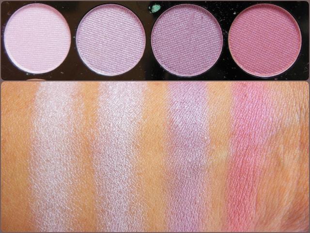 Accessorize Eye Shadow Palette You Are Everything Row 2 Swatch