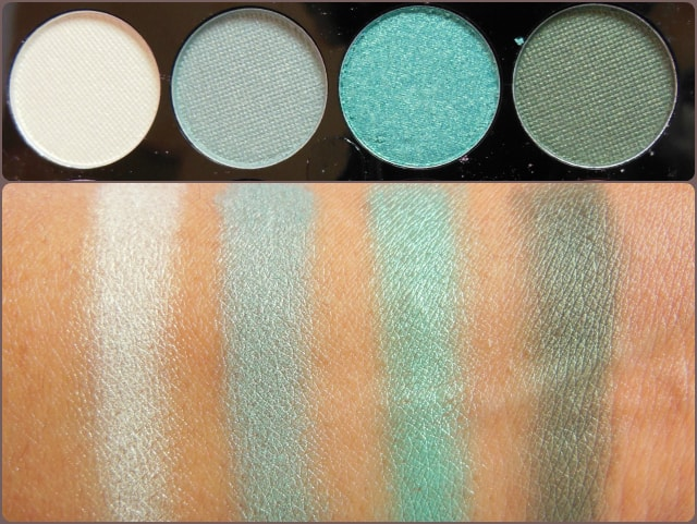 Accessorize Eye Shadow Palette You Are Everything Row 3 Swatch