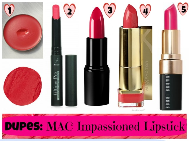 Dupe Discovered - MAC Impassioned Lipstick dupe List
