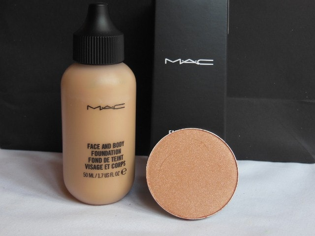 February Makeup Haul - Mac Face and Body Foundation, MAC Trace Gold Blush
