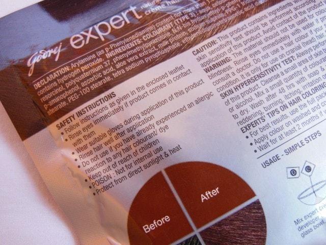 Godrej Expert Creme Rich Hair Color Instruction