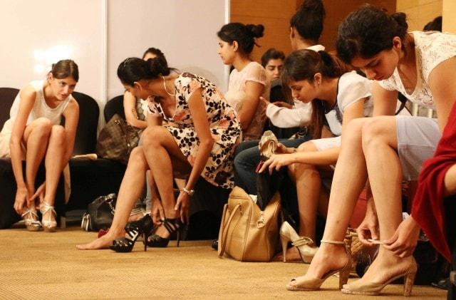 Models at the Jabong Show fittings (DP)