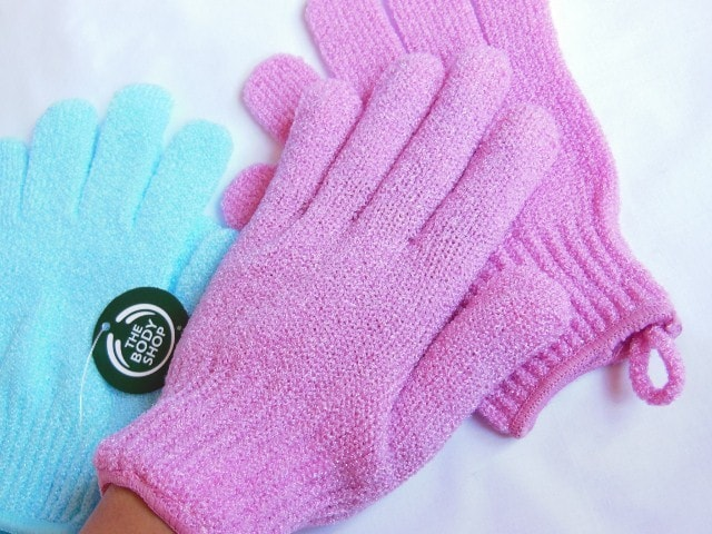 The Body Shop  Pink Exfoliation Gloves
