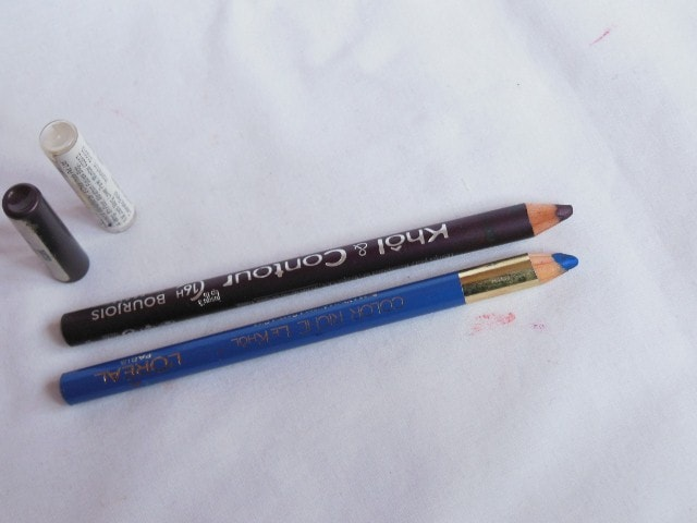 Blog Sale - Bourjois Kohl & Contour Eye Pencil Prune Morderne and L'Oreal Color Riche Eye Pencil Portofino Blue