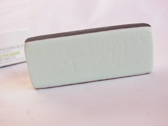 The Body Shop Nail Polishing Block Step 2 Remove Ridges