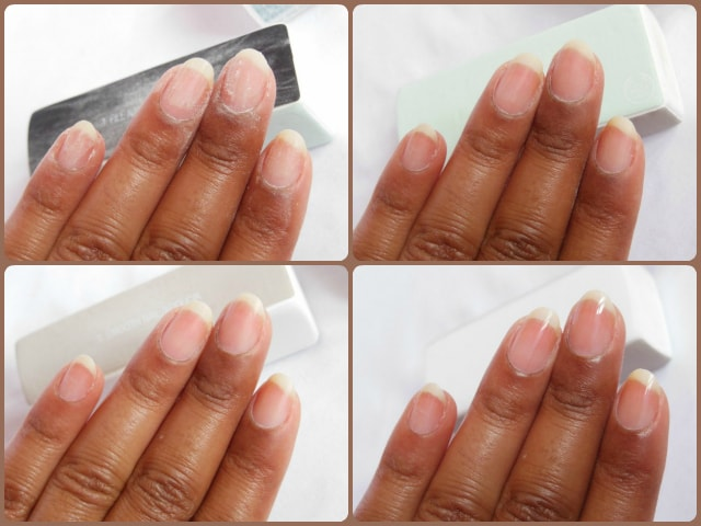 The Body Shop Nail Polishing Block Step By Step