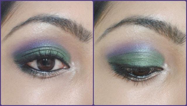 Eye Makeup Tutorial -Green and Purple Eyes