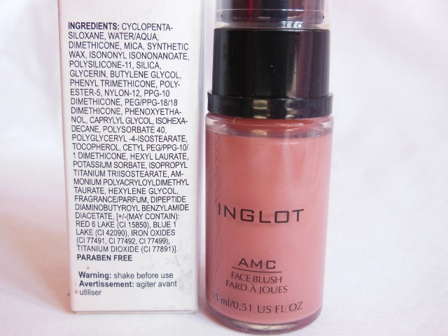 INGLOT AMC Liquid Blush #81 Ingredients