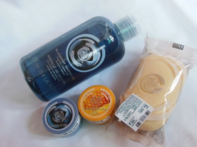 The Body Shop Shopping- Lipbutters,Shower Gel and Soap