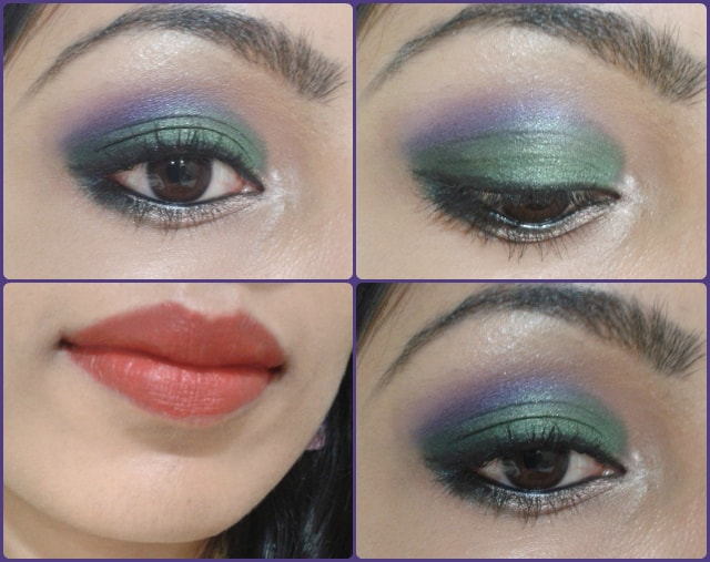 What Am I Wearing Today-Purple and Green Eye Makeup