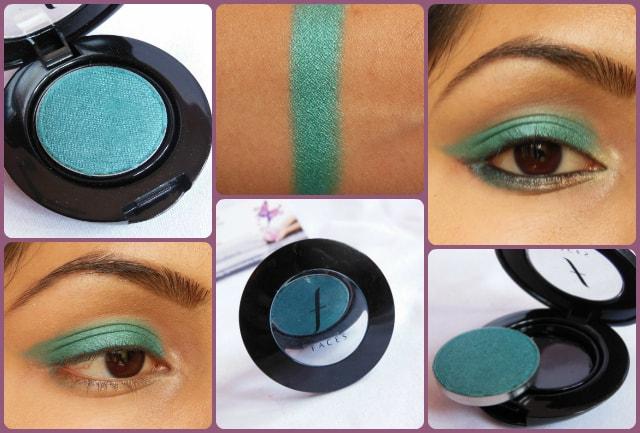 Faces Canada Single Eye Shadow Teal Green Look