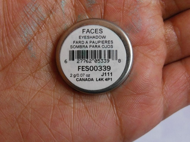 Faces Eye Shadow Turquoise Blue