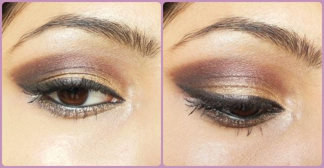 Gold Plum Eye Makeup