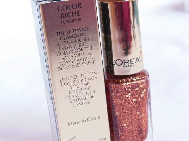 L'Oreal Paris Color Riche Le Vernis Copper Cuff Claims