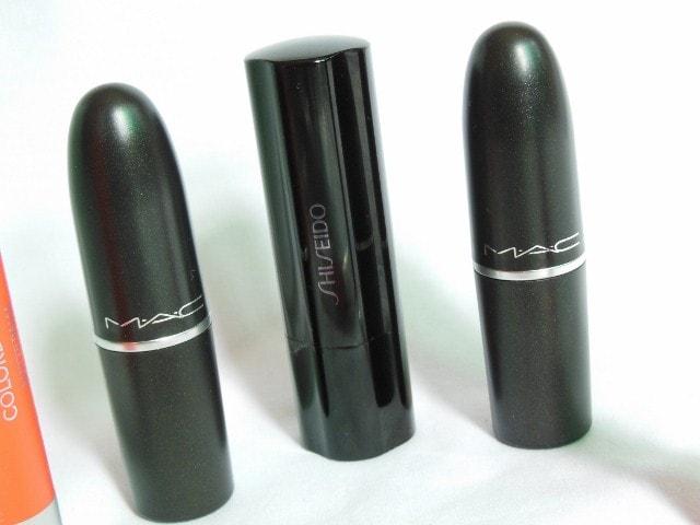Lipstick Obsession - MAC Candy Yum Yum, MAC Lady Bug and Shiseido RS 745 Lipstick