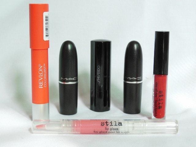 Lipstick Obsession - MAc, Revlon , Stila and Shiseido Lipsticks