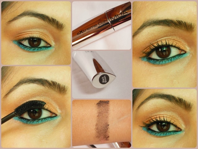 Makeup Academy MUA Professional Extreme Curl Mascara Black Brown Look