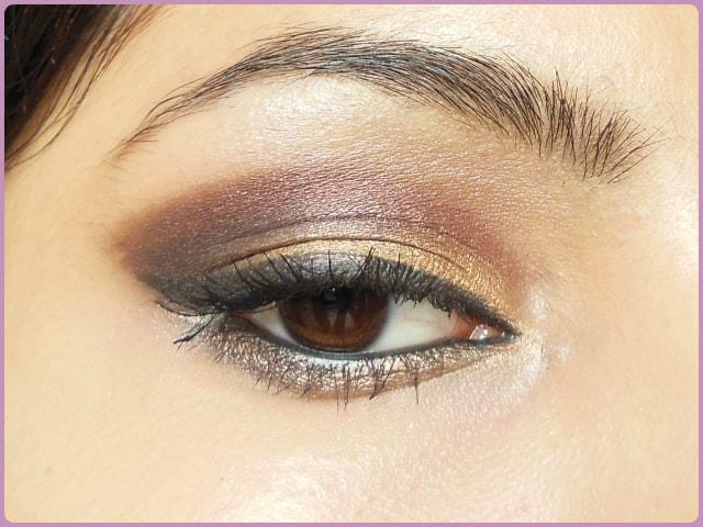 Smokey Plum and Gold Eye Makeup