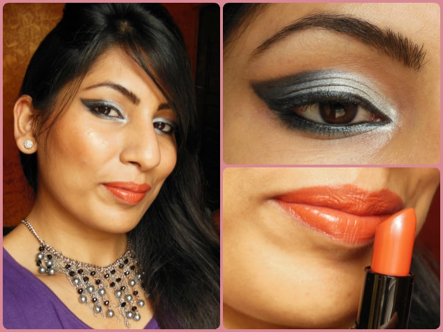 What Am I wearing Today - Smokey Gray Eyes and Orange lips