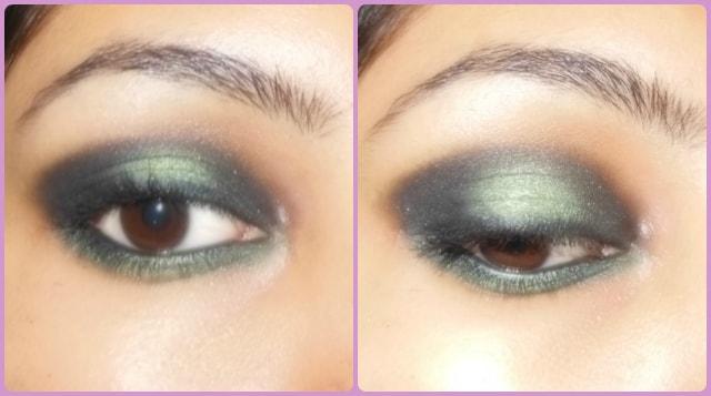 Black Green Eye Makeup