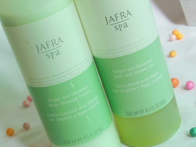 Jafra Spa Ginger and SeaWeed Shower Gel and Body Massage Cream Review