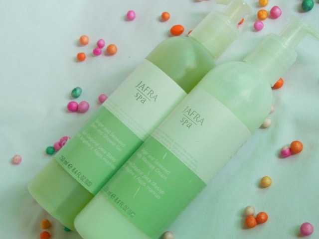 Jafra Spa Ginger and Seaweed Bath and Shower Gel and Body Massage Cream Review