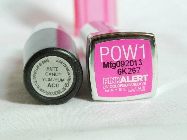 MAC Candy Yum Yum Lipstick Dupe Maybelline Pink Alert Pow1