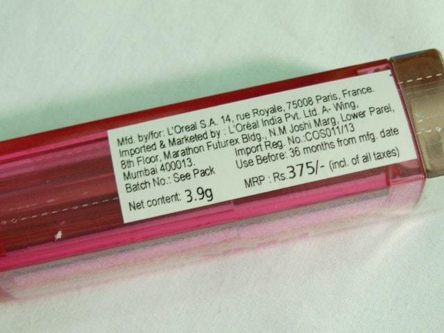 Maybelline ColorSensational Pink Alert Pow1 Lipstick Price