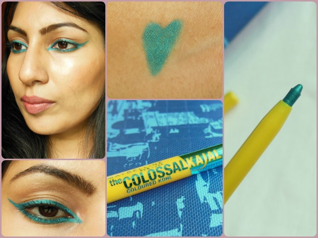 Maybelline Colossal Kohl Turquoise EOTD