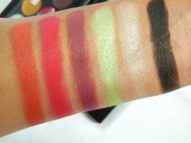 Sleek Eye Shadow Palette Rio Rio Swatches 1st Row